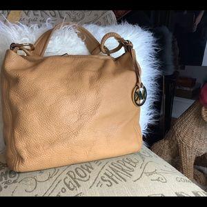 Micheal Kors soft tan leather satchel bag